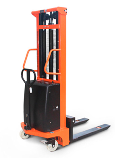 Picture of Semi Electric Lift Hand Stacker Truck 1 Ton / 3.0m