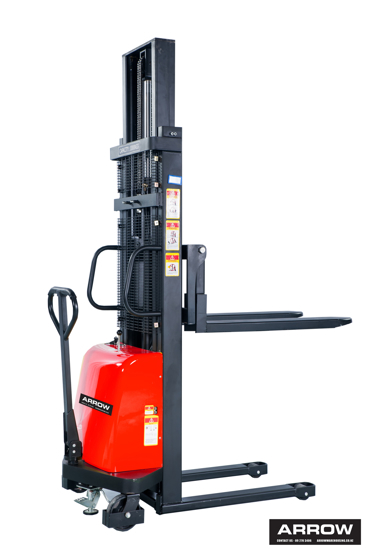 Picture of Semi Electric Lift Hand Stacker Truck 1 Ton / 3.0m (straddle )