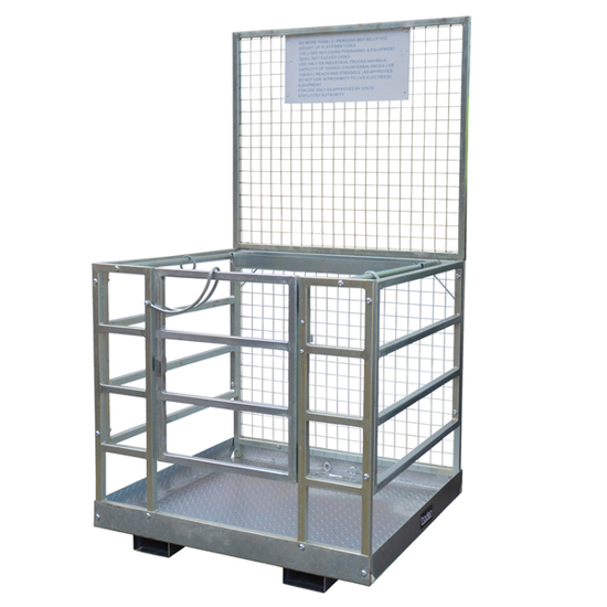 Picture of Forklift Access Safety Cage with tool box